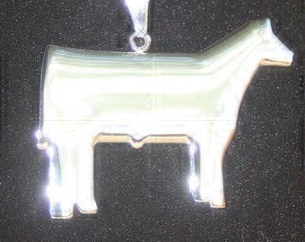 Stainless steel Show steer pendant necklace