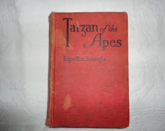 Tarzan Of The Apes Vintage Hardcover Book By Edgar Rice Burroughs