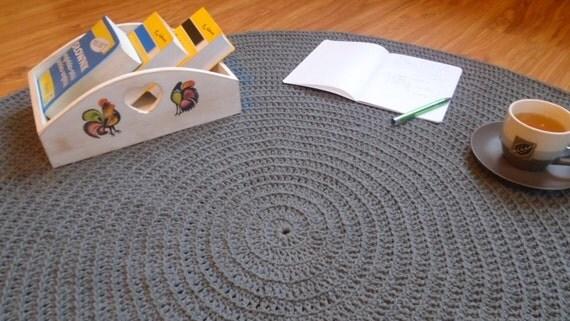Teppich hellgrau rund  Runde Häkeldeckchen Teppich / häkeln Teppich / gehäkelter