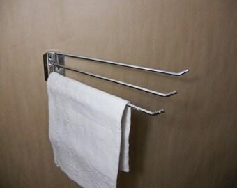 Vintage Metal Laundry Drying Rack Towel Bar
