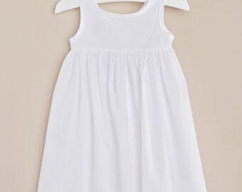 Day Length Baby Dress Slip, Christening Slip, Shorty Slip, White Slip,