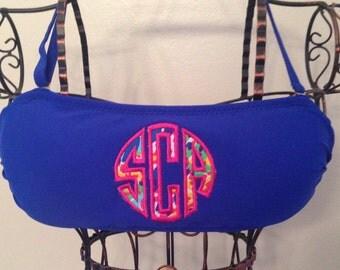 Lilly Monogram Applique Bandeau Bikini Bathing Suit Top