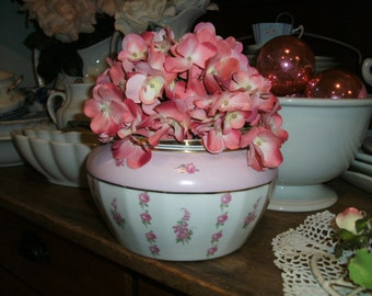 Pretty Country French Style Limoges China Roses Vase