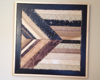 "Leading Forward Rustic Abstract Wall Art Insparational ""Handmade"""