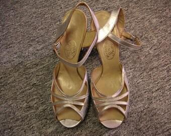 1940-50s original Silver Sandals