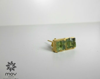 Square Glass Stud Earrings *Fragile Collection*