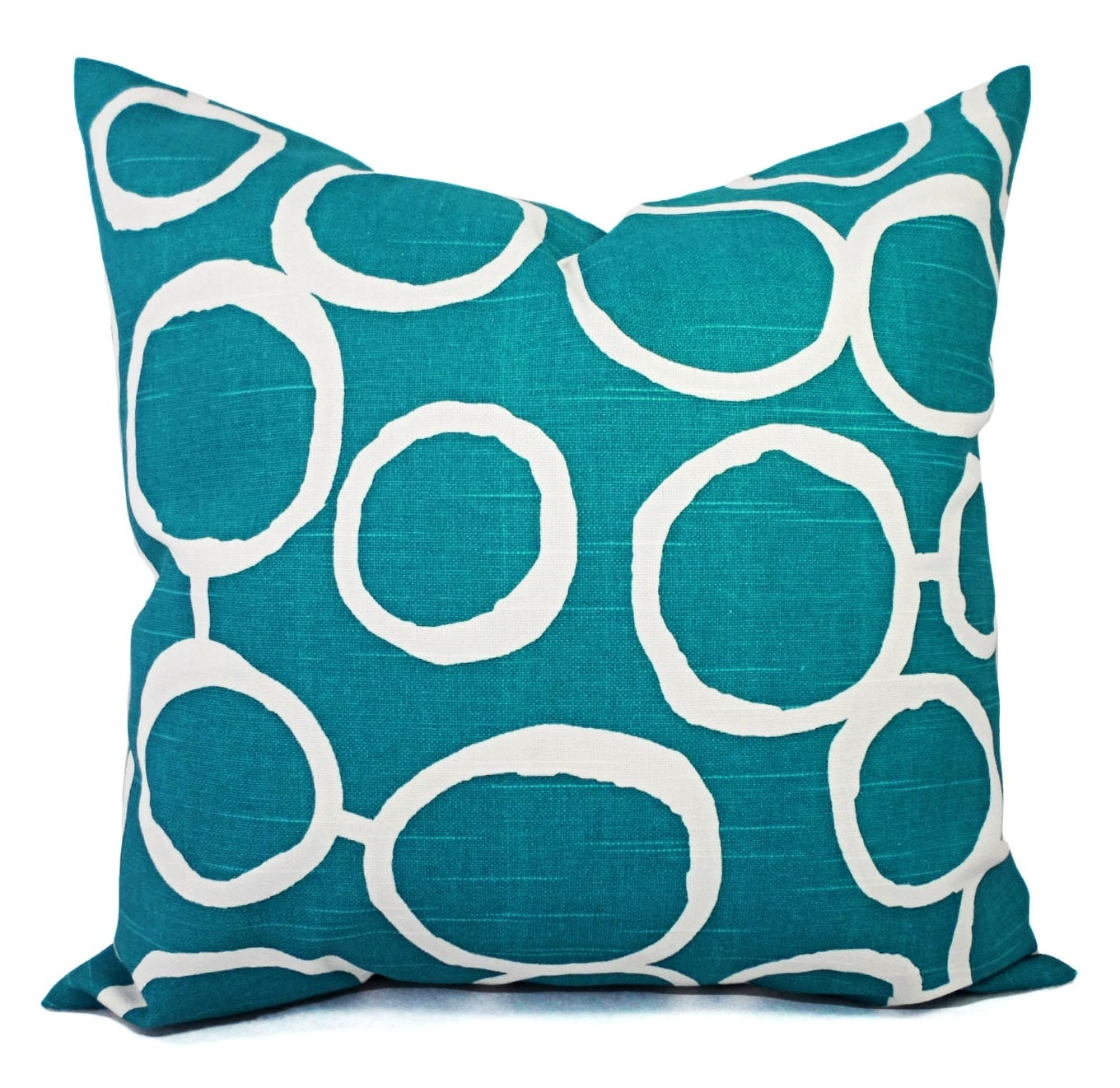 Two Turquoise Decorative Pillow Covers Two Turquoise and