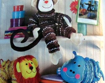 Yo Yo Monkey Pattern, Yo Yo Lion Pattern, Yo Yo Hippo Pattern, Simplicity 2441, Uncut