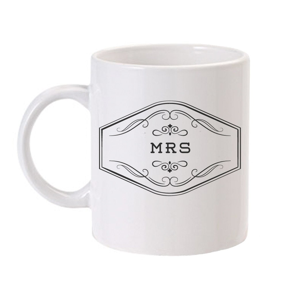 Customized Wedding Coffee Mugs : Mrs. Mug Personalized Wedding Coffee Mug Future Mrs Gift