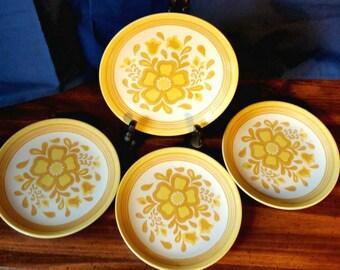 Yellow Salad Plates, Set of 4