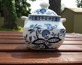 Blue Onion Sugar Bowl with Lid