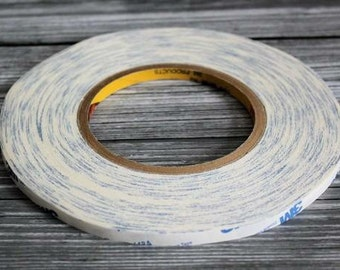 Double side (50meters) SUPER Sized Roll - Triple Duty Double Sided Tape for Hair Clips and crafts