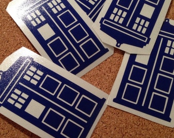 tardis dr.who vinyl decal