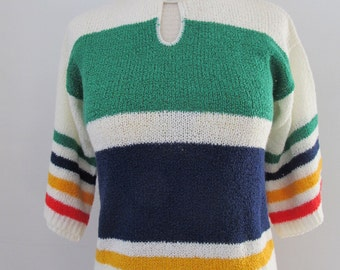 Vintage 70's Lightweight Deadstock Sweater Pullover Acrylic Knit By It's Pure Gould