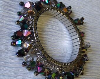 Black crystal expansion bracelet 0054SB