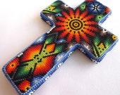 Huichol Beaded Crucifix / Cross