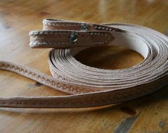 Western reins, split reins,  horse bridle reins leather, tooled