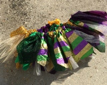 Mardi Gras tutu skirt, purple green and gold tutu, carnival tutu, Choose your size - infant, toddler, child