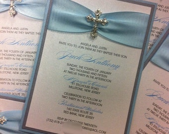 items similar to baptism invitation, christening invitation, holy, Baptism invites