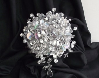 The sparkler: rhinestone bouquet, brooch alternative wedding bouquet, florist made, bride bouquet, bling bouquet, jewelry bouquet, mirror