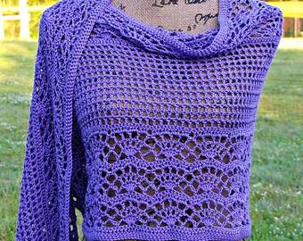 Vintage Violet Shawl