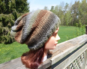 Shades of Brown Slouchy Hat