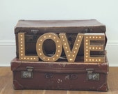 Freestanding LOVE marquee letter light - battery operated