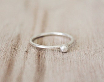 Cape ring, cape cod ring, sterling silver ring, pearl ring, cape stacker, sterling silver cape ring, minimalist ring, silver ring