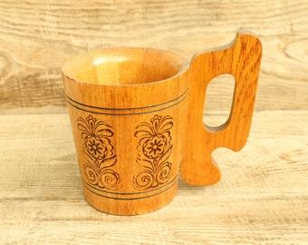 Big  Vintage Wood cup ... wooden cup ... wooden goblet