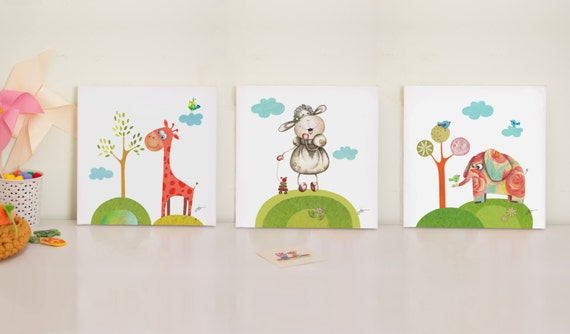 nursery print set baby room prints nursery canvas art canvas art for kids