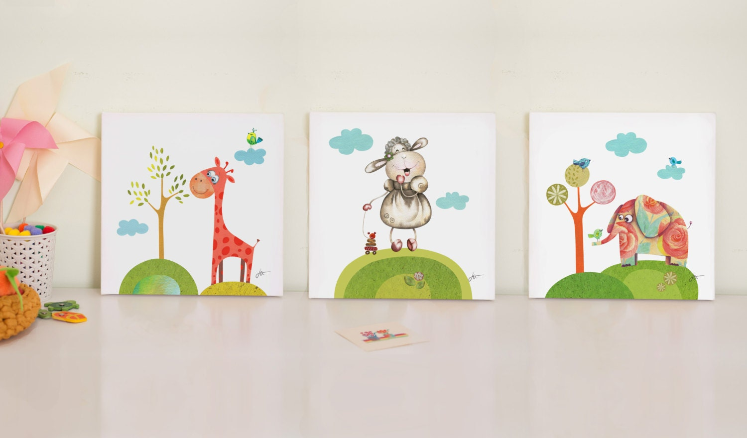 Nursery Print Set Baby Room Prints Nursery Canvas Art