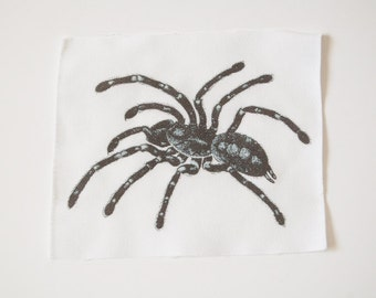 Tarantula Black and White Sew On Patch