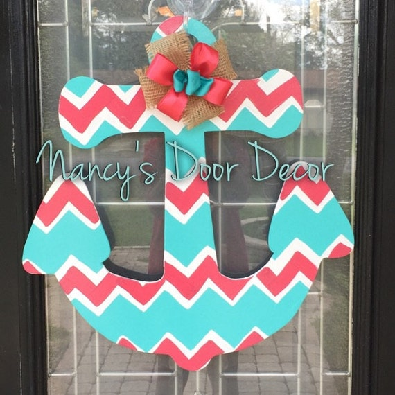 Unavailable listing on etsy for Anchor door decoration