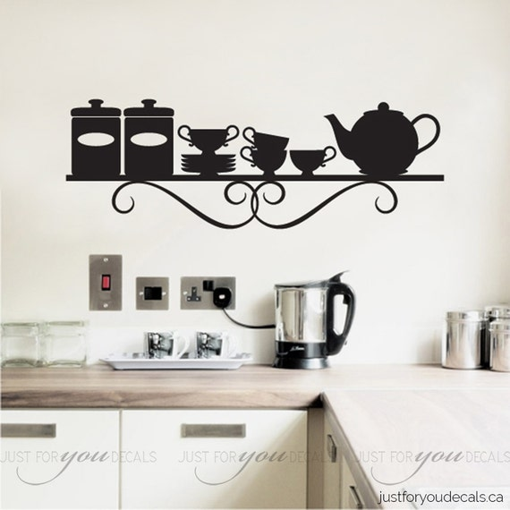 Kitchen Wall Decal Dining Room Decals Shelf