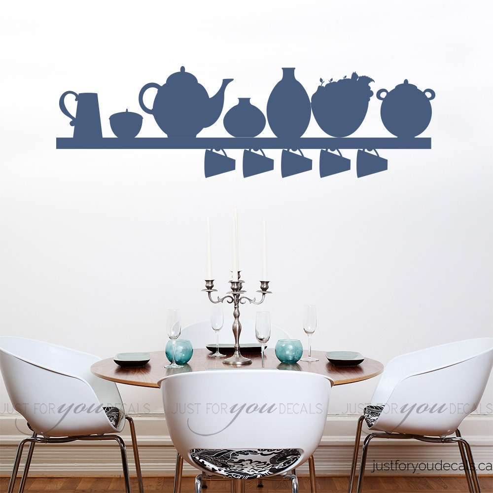 Kitchen Wall Decal Dining Room Wall Decals Kitchen Shelf