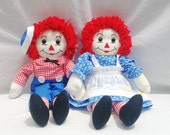 15 in Raggedy Ann and Raggedy Andy Plush Doll Set
