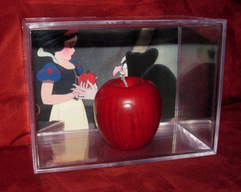 Snow White Meets The Old Hag (Sweet lady she is) I was rooting for her!!! Her Giving Ugly Snow White A  Red Apple Display!!!