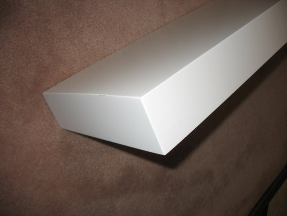 White Painted Floating Shelf 30 Long X 9 By