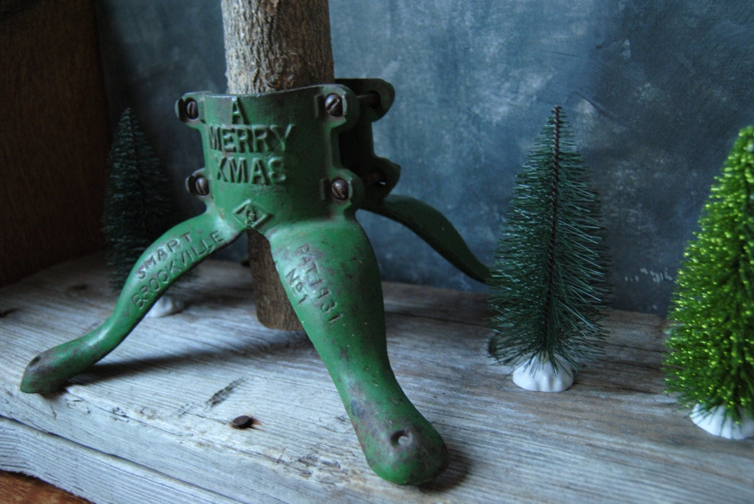 Antique Christmas Tree Stand Decorations : Antique cast iron christmas tree stand holiday