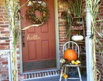 """Door Decal """"hello"""""""