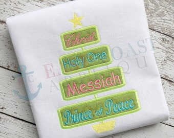 CHRIST TREE machine embroidery design