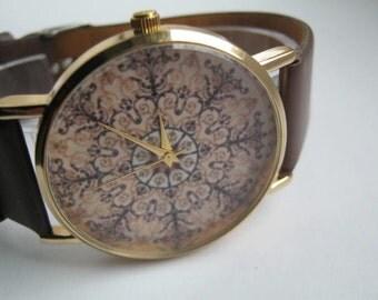 Women's accessory,Leather Watch, ladies watch, Valentine's Day gift,cream