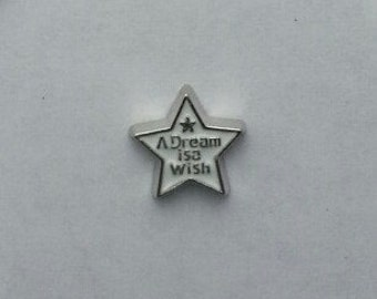 A Dream is a Wish   FCL0650    Floating Charm for  Memory Glass Locket