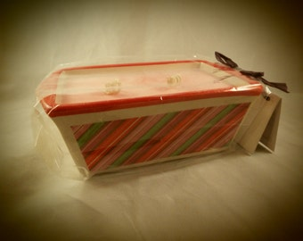 Peppermint Mini Loaf Pan Candle