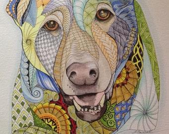 Pet Portrait Original Artwork of YOUR PET!!
