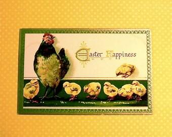 Vintage Tuck Chicken, & Chicks Easter Post Card