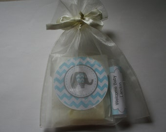 Baby Boy Shower favor/ soap and lip balm Favor