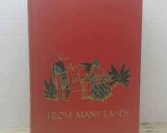 From Many Lands, 1953, The Childrens Hour 9, vintage kids book