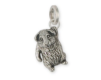 Solid Sterling Silver Guinea Pig Charm - GP3C