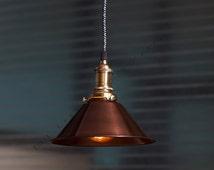 Vintage Industrial DIY Cone Ceiling Lamp Light Pendant Lighting - Industrial Bar Pendant Lamp Copper Finish